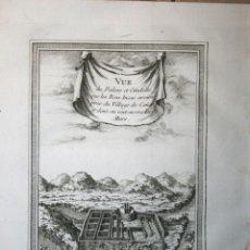 Arte: VISTA DEL PALACIO Y LA CIUDAD DE INCA DE INGAPIRCA (ECUADOR), 1746. BELLIN. Lote 109210975