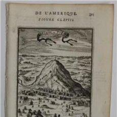 Arte: VISTA DE LA MONTAÑA DE POTOSÍ (BOLIVIA, AMÉRICA DEL SUR)), 1683. MALLET. Lote 109212171