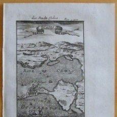 Arte: VISTA DE LA BAHÍA Y CIUDAD DE CÁDIZ (ESPAÑA), 1718. MALLET. Lote 109212347