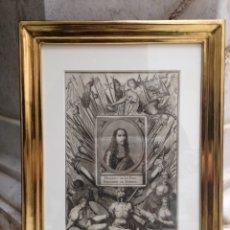 Arte: GRABADO SIGLO XVIII CON MARCO DORADO. Lote 109248687