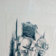 Arte: GRABADO PUNTA SECA DE LUIS SÁEZ, HOMENAJE A MILLARES, FIRMADO Y NUMERADO 7 DE 15. Lote 109256299