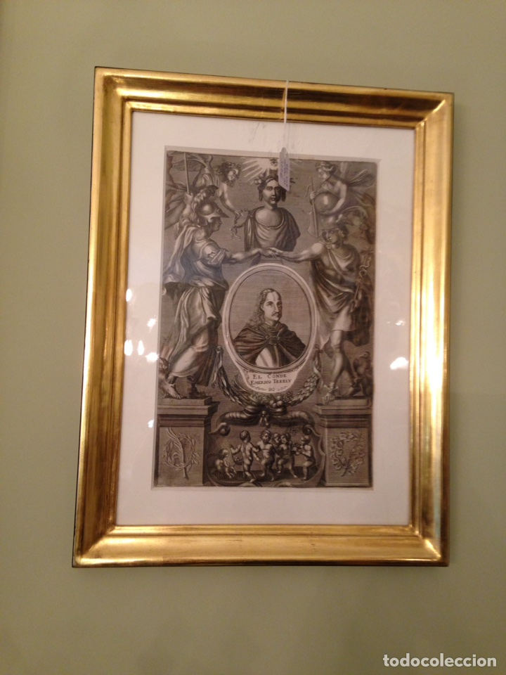 grabado siglo xviii con marco dorado - Comprar Grabados Antiguos ...