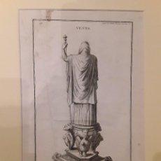 Arte: VESTA. GRABADO ORIGINAL, SIGLO XVIII. 36X22 CM.. Lote 109277283
