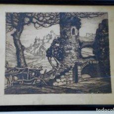 Arte: GRABADO DE MANUEL CASTRO GIL. Lote 109295199