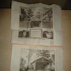 Arte: CULTIVO AGRICULTURA GANADERÍA - 2 BELLOS GRABADOS - 1762 - 23X29,5 CM.. Lote 109456999
