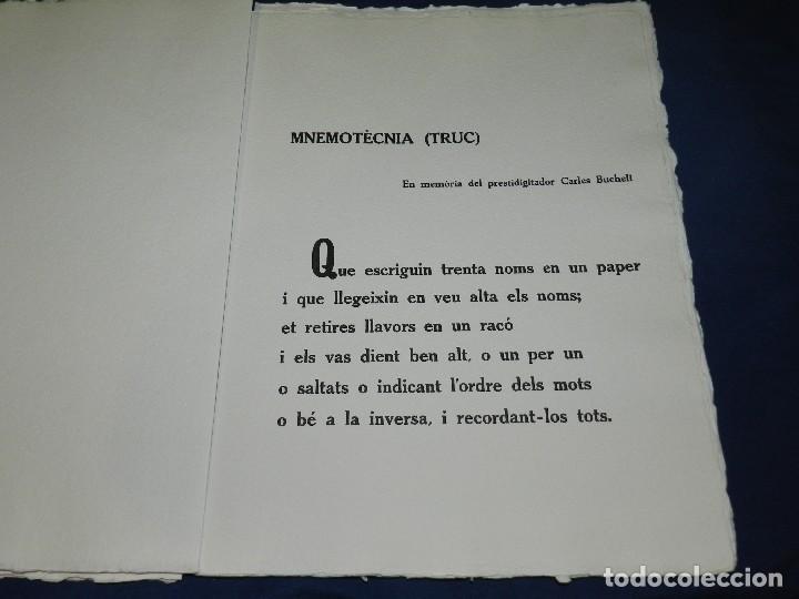 Arte: (M) EL REY DE LA MAGIA JOAN BROSSA - ANTONI TAPIES CONTIENE 3 AGUAFUERTES DE ANTONI TAPIES 75 EJEM - Foto 7 - 209984887