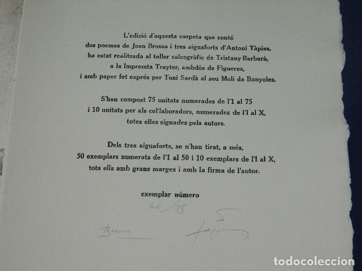 Arte: (M) EL REY DE LA MAGIA JOAN BROSSA - ANTONI TAPIES CONTIENE 3 AGUAFUERTES DE ANTONI TAPIES 75 EJEM - Foto 11 - 209984887