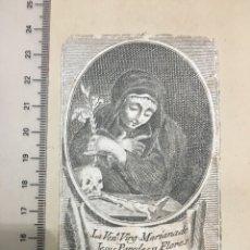 Art: GRABADO FINALES S. XIX. LA VENE. VIRG. MARIANA DE JESÚS PAREDES Y FLORES AZUCENA DE QUITO. Lote 109624863