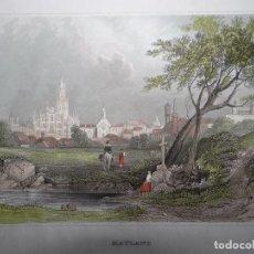 Arte: VISTA PANORÁMICA DE LA CIUDAD DE MILÁN (ITALIA), 1850. I. HILDBURGHAUSEN. Lote 109812151