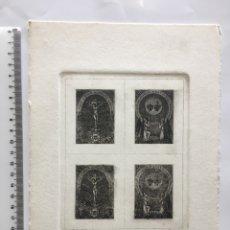 Arte: GRABADO FINALES S. XIX. PASIÓN SA. DE NO. SR. JESUCRISTO SÁLVANOS/ SAGRADO CORAZÓN DE JESÚS Y DE MAR. Lote 109817162