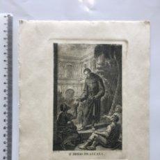 Arte: GRABADO FINALES S. XIX. SN. DIEGO DE ALCALÁ. CRUA LO DIB. V. C. LO G.. Lote 109817952