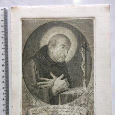 Arte: GRABADO FINALES S. XIX. VERA. EFFIGIES B. GASPARIS DE BONO. Lote 109820675