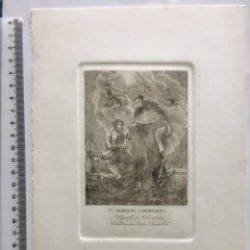 Arte: GRABADO FINALES S. XIX. SN. ALBERTO CARMELITA. ABOGADO DE CALENTURAS. Lote 109821119