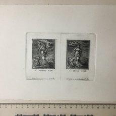 Arte: GRABADO FINALES S. XIX. SA. ÁGUEDA V. Y M. / SA. LUCIA V. Y M.. Lote 109997359