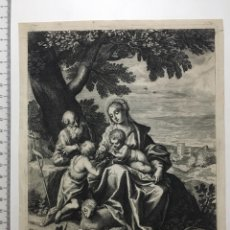 Arte: GRABADO FINALES S. XIX. LA SAINTE FAMILLE. RAPHAEL PINXT.. Lote 109998144