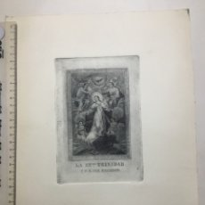 Arte: GRABADO FINALES S. XIX. LA SSMA. TRINIDAD Y N. S. DEL REMEDIO.. Lote 109998448