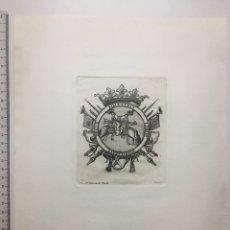 Arte: GRABADO FINALES S. XIX. EQUESTRIS LABOR NOBILITATI DECUS.. Lote 109998559
