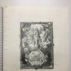 Arte: GRABADO S. XVIII. INMACULADA. JOSEP CAMARÓN LA DIBUXO/ VICTE. GALCERAN Y ALAPONT LA GRABÓ.. Lote 109999006