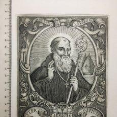 Arte: GRABADO FINALES S. XIX. VERA EFIGIES DE S. ROSENDO. Lote 109999346