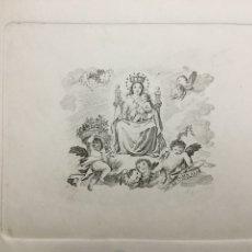 Arte: GRABADO FINALES S. XIX. VIRGEN SEDENTE.. Lote 109999438