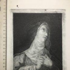 Arte: GRABADO FINALES S. XIX. STA. CATALINA DE SENA. P. GASCÓ.. Lote 109999535