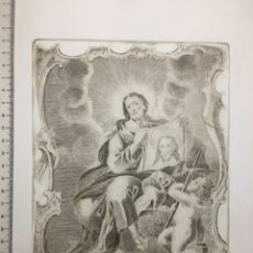 Arte: GRABADO FINALES S. XIX. S. IUDAS TADEO. VENERADO EN EL CONVENTO DE LA CORONA.. Lote 109999688