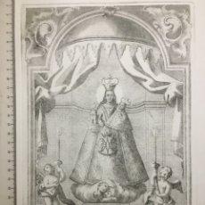 Arte: GRABADO MEDIADOS S. XVIII. V. R. D. N. S. D. CASTILLO DE CHIBA. AÑO 1758. Lote 109999882