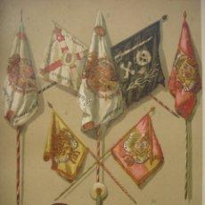 Art: GRABADO RECUERDO DE LA PRIMERA GUERRA CIVIL CARLISTA, ORIGINAL, 1885, BARCELONA, MAGIN PUJADAS. Lote 110021943