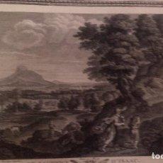 Arte: EL SACRIFICIO DE ISAAC, DOMENICHINO / EXCELENTE GRABADO S. XVIII . Lote 110116215