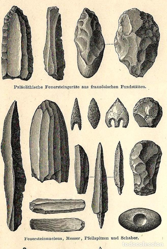 Instrumentos líticos edad de piedra útiles preh - Vendido en