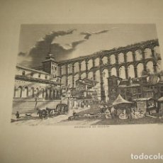 Arte: SEGOVIA EL ACUEDUCTO GRABADO I. G. OLIVA 14,5 X 18,5 CMTS. Lote 110221903