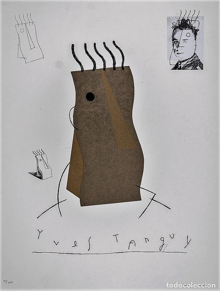 Arte: FERNANDO BELLVER IVES TANGUY AGUAFUERTE CON COLLAGE ORIGINAL FIRMADO Y NUMERADO 10/100 DADAÍSTAS - Foto 3 - 110249947