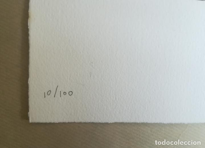 Arte: FERNANDO BELLVER IVES TANGUY AGUAFUERTE CON COLLAGE ORIGINAL FIRMADO Y NUMERADO 10/100 DADAÍSTAS - Foto 5 - 110249947