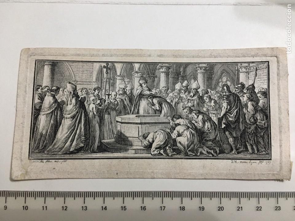 GRABADO S.XVIII. REY CONVERSO. (Arte - Grabados - Antiguos hasta el siglo XVIII)