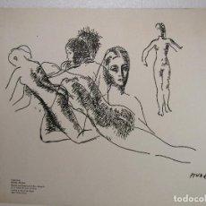 Arte: GRABADO Y FIRMADO EN PLANCHA DE PERE PRUNA OCERANS. Lote 110286003