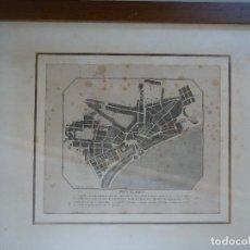 Arte: MAPA DE MENORCA. PLANO DE LA CIUDAD DE MAHÓN A FINALES DEL SIGLO XVIII. Lote 110620895