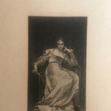 Arte: ANTIGUO GRABADO : LA MEDITACION. VÊLY A (PEINT) PHOTOGRAVURE COUPIL & CIE 1875.. Lote 110641031