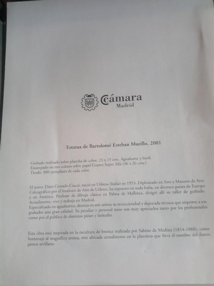 Arte: Grabado de Murillo, realizado por Dino Corrado firmado y numerado - Foto 2 - 110645827