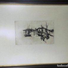 Arte: GRABADO FIRMADO DÍAZ AZORÍN, NUMERADO 14/40. BUEN TAMAÑO. ENMARCADO. Lote 110717567