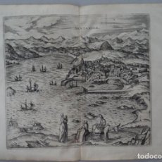 Arte: 1575 GRABADO AL COBRE VISTA MAPA DE SANTANDER (BRAUN HOGENBERG). Lote 111062231