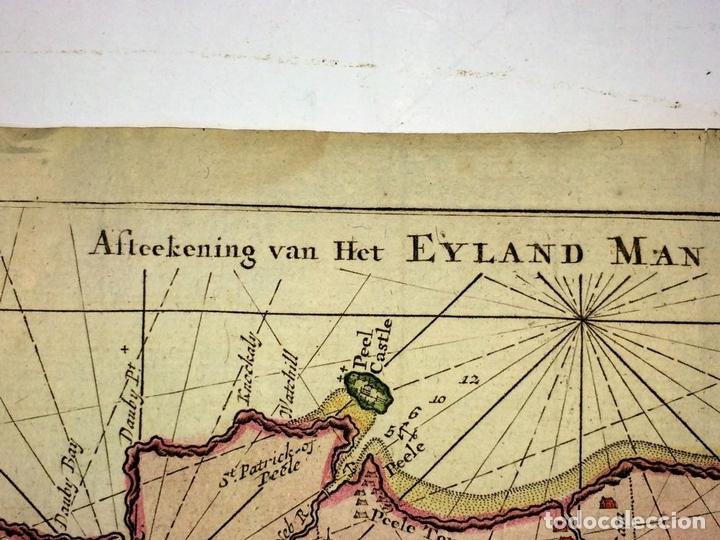 Arte: EYLAND MAN (...) IRELAND EN ENGELAND. GRABADO. GERHARD HURST VAN KEULEN. AMSTERDAM CIRCA 1760 - Foto 8 - 111225403