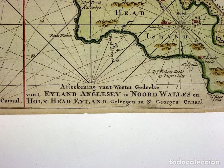 Arte: EYLAND MAN (...) IRELAND EN ENGELAND. GRABADO. GERHARD HURST VAN KEULEN. AMSTERDAM CIRCA 1760 - Foto 9 - 111225403