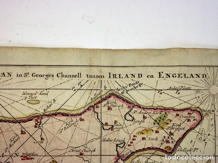 Arte: EYLAND MAN (...) IRELAND EN ENGELAND. GRABADO. GERHARD HURST VAN KEULEN. AMSTERDAM CIRCA 1760 - Foto 10 - 111225403