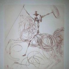 Arte: GRABADO FIRMADO A LAPIZ DE SALVADOR DALI. DON QUIXOTE (ARTIST'S PROOF). EXCELENTE ESTADO. Lote 111312967