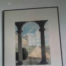 Arte: SENSACIONAL GRABADO DEL ALCAZAR DE TOLEDO FIRMADO Y NUMERADO. Lote 111405319