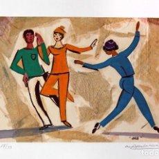 Arte: AGUILAR MORÉ.10 REPROGRAFÍAS DE BALLET. CON DIBUJO ORIGINAL. TIRADA LIMITADA, FIRMADA Y CERTIFICADA.. Lote 223379207
