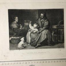 Arte: GRABADO DEL S. XIX. SACRA DEL PAJARITO. MURILLO PTO. B. MAURA GRABÓ 1875. Lote 111540604