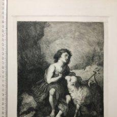 Arte: GRABADO S. XIX. SAN JUAN BAUTISTA. MURILLO PTO. B. MAURA GBO. 1896. Lote 111541827
