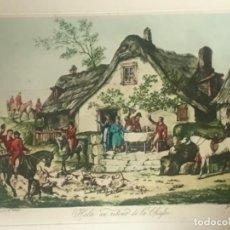 Arte: GRABADO ILUMINADO - VERNET - JEAN PIERRE MARIE JAZET - S.XIX. Lote 111846355