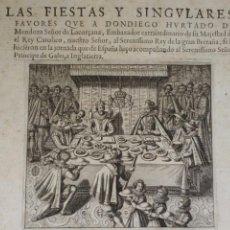 Arte: RARISIMO GRABADO DE LA VISITA EN 1537 A LA CORTE DE ENRIQUE VIII DE D. DIEGO HURTADO DE MENDOZA. Lote 111890690